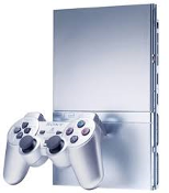 PS2 Console-Silver w/wireless Controller