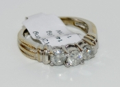 Women's 14K White Gold 3 Stone Diamond Ring