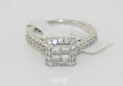 Women's 14K White Gold Diamond Ring