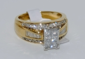 Women's 10K Yellow Gold Diamond Ring