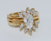 Women's 14K Yellow Gold Diamond Bridal Set