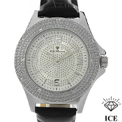 Men's Ice Maxx Watch w/ Leather Band