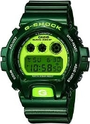 Men's Casio G Shock Watch (Green)-DW6900CC
