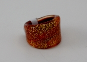Women's Red Glass Blown Ring