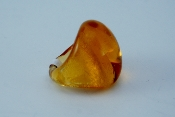 Women's Yellow Glass Blown Ring