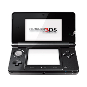 Nintendo 3DS- Black w/Charger & Power Pack