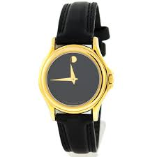 Ladies Movado Watch w/ Black Leather Band